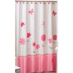 Saturday Knight Limited Butterfly Garden Fabric Shower Curtain