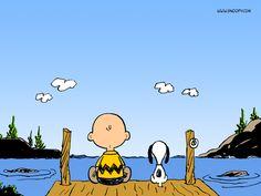 """""""É bom ser criança, Snoopy."""""""