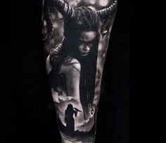 Witch tattoo by Michael Taguet