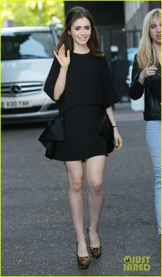 Lily Collins & Jamie Campbell Bower: ITV Studios Visit! | lily collins jamie campbell bower itv studios visit 15 - Photo