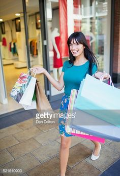 stock image city streets shopping woman packages - Google Search