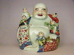 Chinese Porcelain Buddha With Children | eBay
