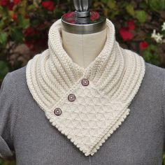 Quilted Lattice Ascot PDF Knitting Pattern Instant Download. $ 7.00, via PamPowersKnits on Etsy.