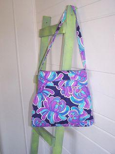 Purple Blue White Mums  Hobo Tote Bag  Medium by thejoyschoppe, $35.00