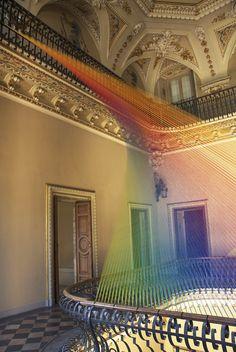 """""""Plexus no. 19"""" - a stunning thread installation by Gabriel Daw (feel the rainbow)"""