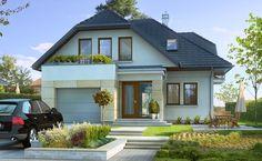 Własny 1 - wizualizacja 1 - Projekty domów na wąską działkę z antresolą