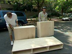 How To Build A Sofa With Storage Space : How To : DIY Network