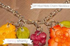 DIY Mod Melts Charm Necklace