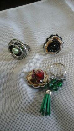 2 aneis e um porta chaves