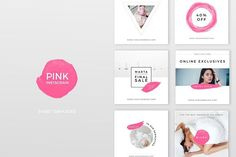 nice Pink Instagram Pack  CreativeWork247 - Fonts, Graphics, Themes, Templa...