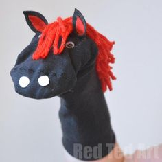 no-sew-horse-puppet