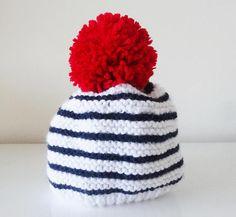 bonnet en laine style marin pour bébé de 0 3 mois Bonnet En Laine, 469dc570a5b
