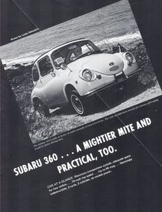 Subaru 360 #360 #Subaru.  Subaru had some great ads for sure!