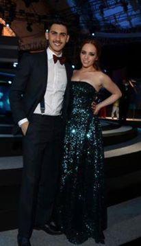Alejandro Speitzer y Minnie West en el set de los Premios TvyNovelas 2014.  #AlejandroSpeitzer #AlexSpeitzer #actor #MinnieWest #actress #PremiosTvyNovelas #2014 #Televisa #SantaFe #outfit