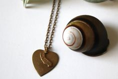 My California Heart Charm Necklace (vintage brass heart and California state charm) w Free Custom Engraving on Etsy, $32.00