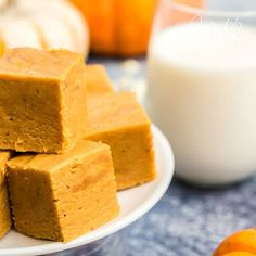 Homemade recipe for pumpkin pie fudge. This pumpkin fudge is soft and sweet and perfect for Thanksgiving and other fall celebrations. #pumpkinfudge #pumpkinpiefudge #pumpkindesserts #pumpkinrecipes #pumpkinspicefudge #pumpkinspicerecipes #amandascookin #thanksgivingdessert #thanksgivingrecipes #fudgerecipes Pumpkin Fudge, Easy Pumpkin Pie, Pumpkin Spice Syrup, Pumpkin Butter, Pumpkin Pie Recipes, Cake Mix Recipes, Pumpkin Dessert, Fudge Recipes, Canned Pumpkin