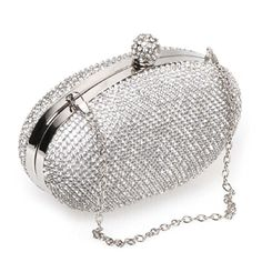 BMC Clear Rhinestones Silver Armor Mesh Chainmail Covered Oval Shaped Disco Ball Fashion Handbag Evening Clutch b.m.c http://www.amazon.com/dp/B00K5FZ7M6/ref=cm_sw_r_pi_dp_3Yuxvb1DNHAQF
