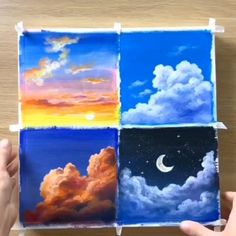 😍 Great art by: Wow Art (YöuTube) Small Canvas Art, Mini Canvas Art, Canvas Canvas, Art Sur Toile, Canvas Painting Tutorials, Creative Painting Ideas, Creative Crafts, Paint Ideas, Painting Techniques