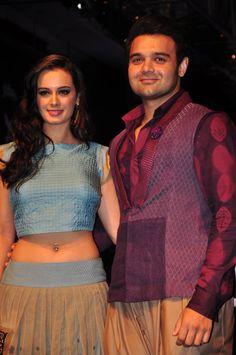 Evelyn Sharma with Mimoh (Mahaakshay) Chakraborty at the Lakme Fashion Week 2015. #Bollywood #Fashion #Style #Beauty #LFW15