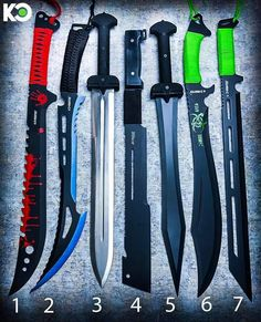 Which one is ur favourite Pretty Knives, Cool Knives, Ninja Weapons, Weapons Guns, Swords And Daggers, Knives And Swords, Tactical Knives, Tactical Gear, Armas Ninja