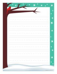 Winter writing paper Pinterest