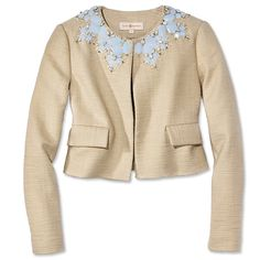 Jewels of the Season - Tory Burch Jacket from #InStyle