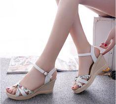 BRAND sweet New Design women sexy  Thick high heels fashion Princess party weding shoes Summer Platform Sandals sdgbwr6y