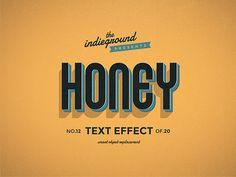 Retro Vintage Text Effect No.12 by IndieGround.deviantart.com on @DeviantArt