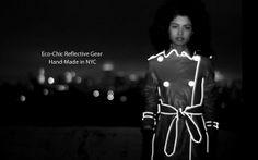 Urban bike clothing  -  Eco chic reflective gear