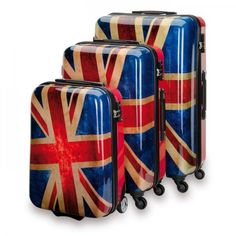 "SUITSUIT Union Jack Luggage Set, 3 sizes: 20"", 24"" and 28"" by SUITSUIT®"