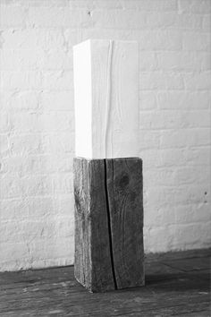 Genius... Reflection/porcelain and wood/2011 by Claudia Paneca