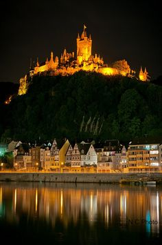 Burg Cochem Reflection by Nadia & Casey Photography, via Flickr  Castle Reflection - Cochem, Germany