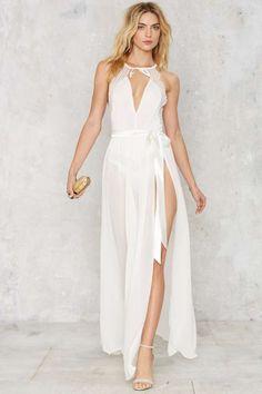 Jump Maxi Sheer Skirt - White | Shop Clothes at Nasty Gal!