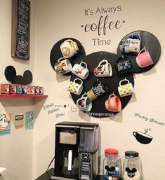 Coffee Stations Glam Coffee Stations Wedding Modern Coffee Bar - Raven S.Coffee Stations Glam Coffee Stations Wedding Modern Coffee Bar - Raven S. Casa Disney, Disney Diy, Disney Crafts, Disney House, Cozinha Do Mickey Mouse, Mickey Mouse Kitchen, Disney Furniture, Bar Furniture, Modern Furniture