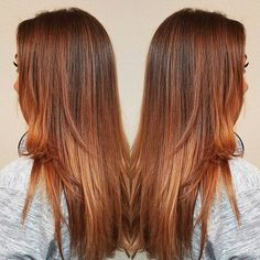 Pumpkin spiced everything! #livedincolor #balayage #hairpainting #leaguecitystylist #pnicrussell #houstonhair #leaguecity #hair #fallhaircolor #pumpkinspicehair #copperhair