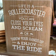 Life is a rollercoaster… you can close your eyes and scream or you can throw your hands up and enjoy the ride. I truly think that this is the way that we should be living our lives… and teaching our kids to live their lives. Every day, we wake up with the chance to have...
