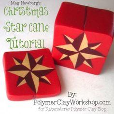 Meg Newberg Polymer Clay Christmas Cane Tutorial on KatersAcres Polyclay Blog