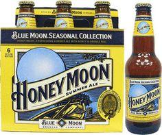 Blue Moon Beer - Honey Moon Belgian Wheat (Seasonal) la la love! my favvvv