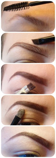 Well, there's a ton of eyebrow tutorials out there, but I decided to make my own! So here it is!  I used bare minerals brow powder, and for the lining of the brow I just add a TINY bit of vaseline to the brush and dip it into the powder. I apply liquid concealer under and above the brow to get ride of any imperfections.