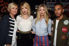 Taylor, Martha Hunt, Lewis Hamilton, and Yolanda Foster at the Gigi Hadid for Tommy Hilfiger fashion show 9.9.16