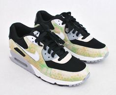 Custom Camo Nike Air Max 90 Running Shoes - Hand Painted