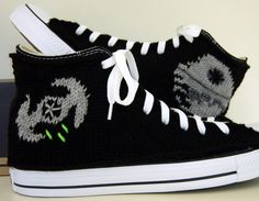 Knit Converse Sneakers /// TIE Fighters & Death Star