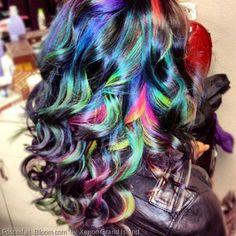 By Xenon Grand Island. Bold hair coloring by Amanda Lipker, a student at Xenon. @bloomdotcom