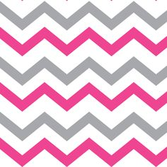 Pink & Gray Chevron wallpaper, fabric and gift wrap from The Pink Home. Available on Spoonflower.