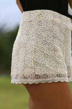 Could even wear tights under white lace shorts in the winter/fall