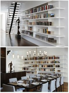 the bookshelves are fantastic