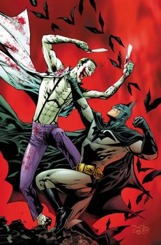Batman vs Joker by Tony S. Daniel • (from Batman R.I.P written by Grant Morrison)