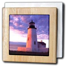 3dRose Light House, Tile Napkin Holder, 6-inch