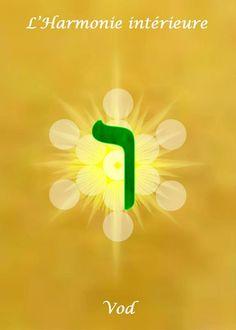 Vav - 6  Le Médiateur Divin, La création par l'union et la fécondation,  l'union, la conjonction, le mariage des forces,   la liberté de choix, l'ambivalence.   La relation entre la créature et son créateur,  le macrocosme, l'élément unissant ou attachant deux parties séparées.   Direction : Sud Est,    Mois :Avril,   Signe : Taureau,    Couleur : vert.   Dans le corps : Le cou, la gorge, les vertèbres cervicales    SEPHER YETSIRAH 5:2   Il fit régner la lettre Vav, la couronna et avec elle…
