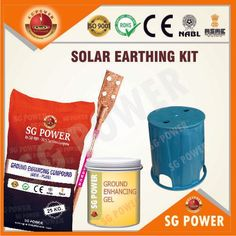 SG Power is a trusted source of solar earthing kit and other earthing electrodes. The kit comprises ground enhancing gel, ground enhancing compound and industrial grounding cover. Solar, Industrial, Kit, Industrial Music, Sun